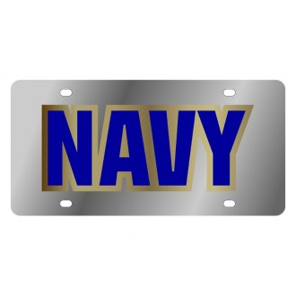 Eurosport Daytona® - LSN Chrome License Plate with Navy Logo