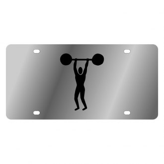 Eurosport Daytona® - LSN License Plate with Weight Lifting Logo