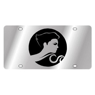Eurosport Daytona® - Polished License Plate with Zodiac Logo