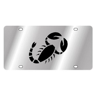 Eurosport Daytona® - Polished License Plate with Scorpio Logo