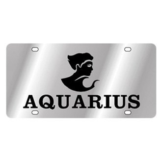 Eurosport Daytona® - Zodiac License Plate with Aquarius Logo with Text