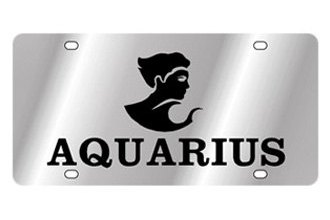 Eurosport Daytona® - Zodiac - License Plate with Aquarius Logo with Text