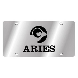 Eurosport Daytona® - Zodiac License Plate with Aries Logo with Text