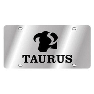 Eurosport Daytona® - Polished License Plate with Taurus Logo and Text