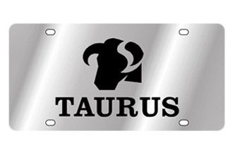 Eurosport Daytona® - Zodiac - License Plate with Taurus Logo with Text