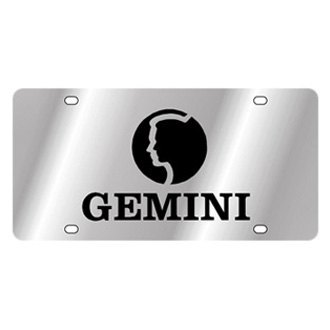 Eurosport Daytona® - Zodiac License Plate with Gemini Logo with Text