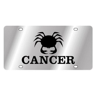 Eurosport Daytona® - Polished License Plate with Cancer Logo and Text