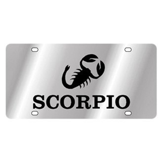 Eurosport Daytona® - Polished License Plate with Scorpio Logo and Text