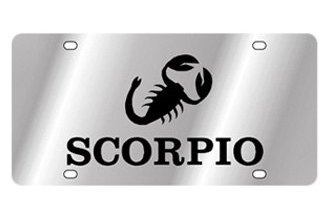 Eurosport Daytona® - Zodiac - License Plate with Scorpio Logo with Text