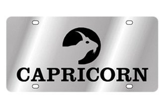 Eurosport Daytona® - Zodiac - License Plate with Capricorn Logo with Text