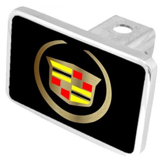 Eurosport Daytona® - General Motors Black Premium Hitch Plug with Cadillac Logo