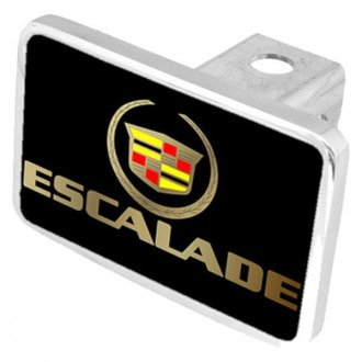 Eurosport Daytona® - General Motors Black Premium Hitch Plug with Escalade Gold Logo
