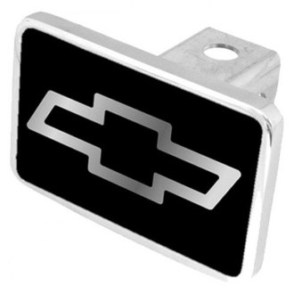 "Eurosport Daytona® - General Motors Black Premium Hitch Cover with Chevrolet Bowtie Logo for 2"" Receivers"