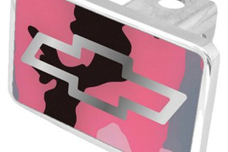 Eurosport Daytona® - General Motors Pink Camouflage Premium Hitch Plug with Chevrolet Bowtie Logo