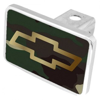 Eurosport Daytona® - General Motors Green Camouflage Premium Hitch Plug with Chevrolet Bowtie Logo