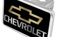 Eurosport Daytona® - Chevrolet Logo on Black Premium Hitch Plug