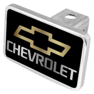 "Eurosport Daytona® - General Motors Black Premium Hitch Cover with Chevrolet Logo and Emblem for 2"" Receivers"