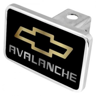 "Eurosport Daytona® - General Motors Black Premium Hitch Cover with Avalanche Logo for 2"" Receivers"