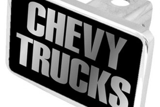 Eurosport Daytona® - General Motors Black Premium Hitch Plug with Chevy Trucks Logo