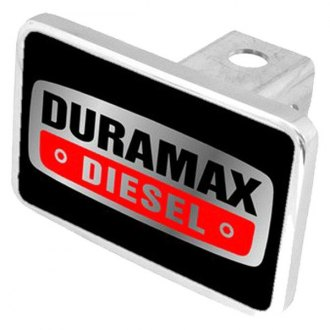 "Eurosport Daytona® - General Motors Black Premium Hitch Cover with Duramax Diesel Badge for 2"" Receivers"