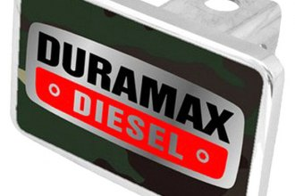 Eurosport Daytona® - General Motors Green Camouflage Premium Hitch Plug with Duramax Diesel Badge