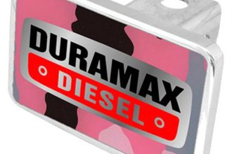 Eurosport Daytona® - General Motors Pink Camouflage Premium Hitch Plug with Duramax Diesel Badge