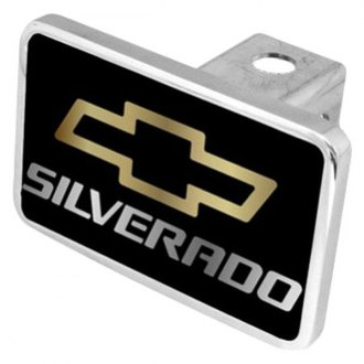 "Eurosport Daytona® - General Motors Black Premium Hitch Cover with Silverado Logo for 2"" Receivers"