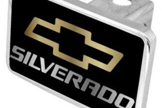 Eurosport Daytona® - General Motors Black Premium Hitch Plug with Silverado Logo
