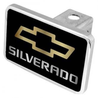 "Eurosport Daytona® - General Motors Black Premium Hitch Cover with Silverado New Logo for 2"" Receivers"