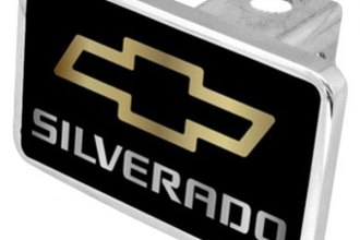 Eurosport Daytona® - General Motors - Black Premium Hitch Plug with Silverado Logo