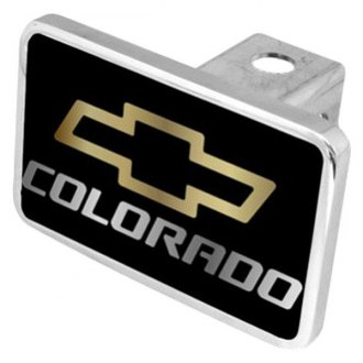 "Eurosport Daytona® - General Motors Black Premium Hitch Cover with Colorado Logo for 2"" Receivers"
