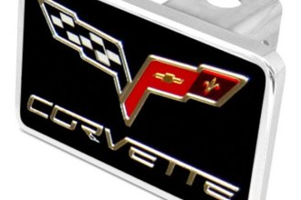 Eurosport Daytona® - General Motors Black Premium Hitch Plug with C6 Logo & Word