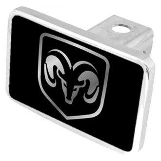 Eurosport Daytona® - MOPAR Black Premium Hitch Plug with Dodge Logo