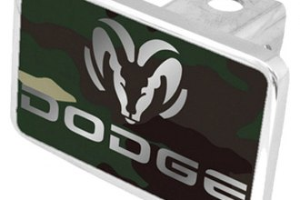 Eurosport Daytona® - MOPAR Green Camouflage Premium Hitch Plug with Dodge Logo