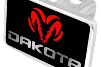 Eurosport Daytona® - MOPAR Black Premium Hitch Plug with Dakota Logo