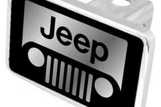 Eurosport Daytona® - MOPAR Black Premium Hitch Plug with Jeep Grill Logo