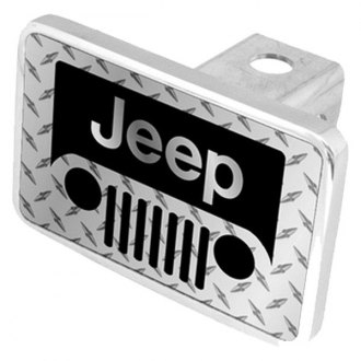 Eurosport Daytona® - MOPAR Diamond Premium Hitch Plug with Jeep Grill Logo