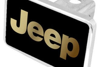 Eurosport Daytona® - MOPAR Black Premium Hitch Plug with Jeep Logo