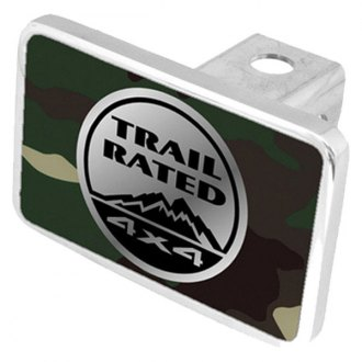 Eurosport Daytona® - MOPAR Green Camouflage Premium Hitch Plug with Trail Rated Logo