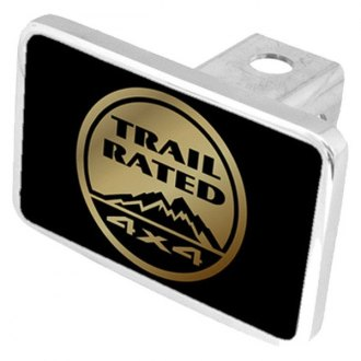 "Eurosport Daytona® - MOPAR Black Premium Hitch Cover with Trail Rated Logo for 2"" Receivers"