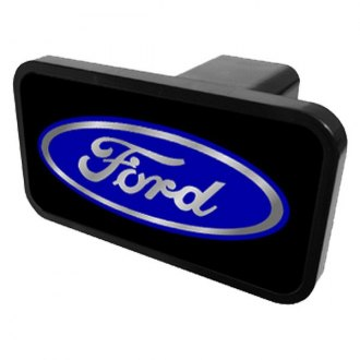 "Eurosport Daytona® - Ford Motor Company Black Europlug Hitch Cover with Built Ford Logo for 2"" Receivers"