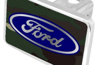 Eurosport Daytona® - Ford Motor Company Green Camouflage Premium Hitch Plug with Ford Logo
