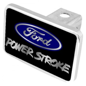 Eurosport Daytona® - Ford Motor Company Black Premium Hitch Plug with Power Stroke Logo