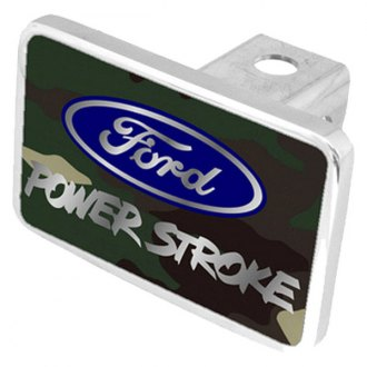 Eurosport Daytona® - Ford Motor Company Green Camouflage Premium Hitch Plug with Power Stroke Logo