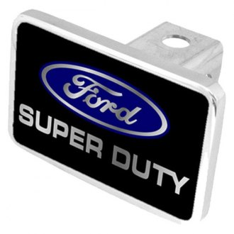 Eurosport Daytona® - Ford Motor Company Black Premium Hitch Plug with Super Duty Logo and Ford Emblem