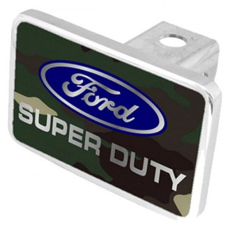 Eurosport Daytona® - Ford Motor Company Green Camouflage Premium Hitch Plug with Super Duty Logo