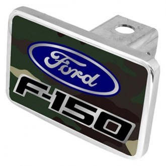 Eurosport Daytona® - Ford Motor Company Green Camouflage Premium Hitch Plug with F-150 Badge