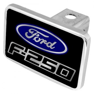 Eurosport Daytona® - Ford Motor Company Black Premium Hitch Plug with F-250 Logo and Ford Emblem