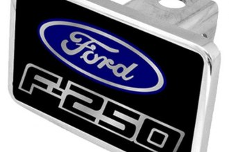 Eurosport Daytona® - Ford Motor Company Black Premium Hitch Plug with F-250 Badge