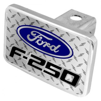 Eurosport Daytona® - Ford Motor Company Diamond Premium Hitch Plug with F-250 Badge